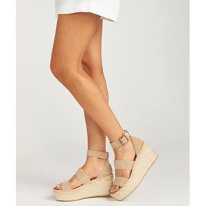 Soludos Palma Wedges in Blush